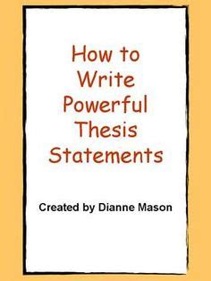 How to write a Thesis Statement for a Research Paper? NEW